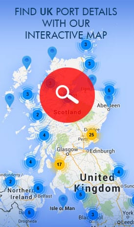 Find UK Ports details with our UK Ports Interactive Map