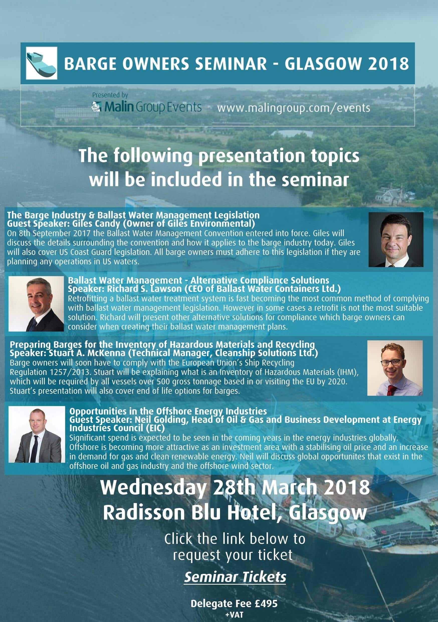 Invitation barge owners seminar glasgow 2018 uk ports the details of speakers and presentation topics below altavistaventures Image collections